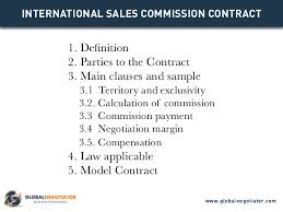 International Sales Commission Contract