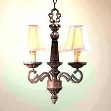 burlap chandelier