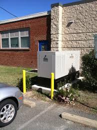 Diesel commercial generac generator on essex county school board