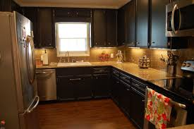 Yellow Kitchen Countertops Dark Kitchen Cabinets With Dark Countertops Yellow Pendant Lamps