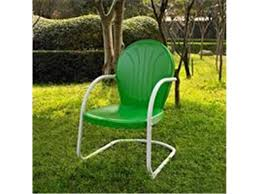 crosley furniture co1001a gr griffith metal chair in grasper green finish