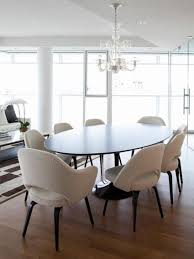 oval dining table room design furniture