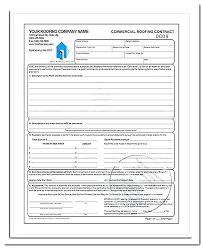Roofing Contract Template Free Residential Roofing Contract Template Aconcept Co