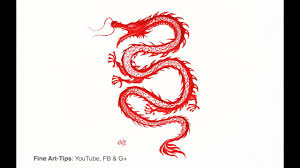 How To Paint A Chinese Dragon Or Korean Like Tattoo Drawing