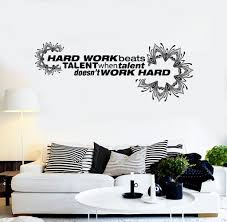 wall decal for office. Vinyl Wall Decal Office Quote Hard Work Motivation Decoration Stickers Unique Gift (ig4292) For N