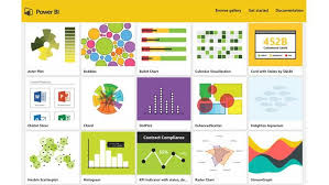 Power Bi Offers Numerous Chart Types In This Sample Gallery