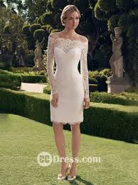 sheath column off the shoulder long sleeves lace knee length