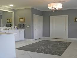 m simple cheap home decorating bathroom ideas with grey interior wall scheme and luxurious round drum shaded pendant lighting fixtures with bathrooms bathroom lighting scheme