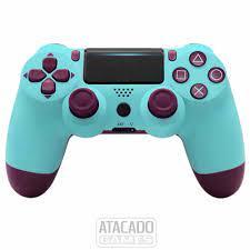 Controle Dualshock 4 para PS4 - Berry blue (USA)