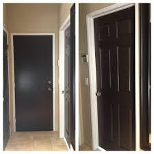 painted all my white doors dark brown love it brown interior doorspainting