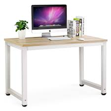 com tribesigns computer desk 47 modern simple office desk computer table study writing desk for home office light walnut office s
