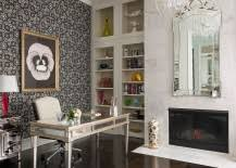 home office style. Venetian-style-mirror-marble-fireplace-and-classy-chandelier-for-the-home- Office-217x155.jpg Home Office Style