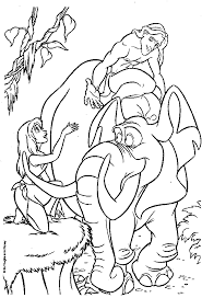 Small Picture Tarzan Coloring Page Coloring Pages Ideas Reviews