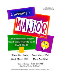 choosing a major workshop under choosing a major