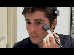 how to apply make up for men