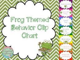 Frog Themed Behavior Chart Frog Themed Behavior Chart