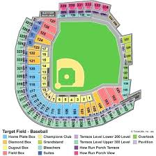 Target Field Baseball Seating Chart Target Field Seating Vivall Co