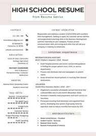 best high school resumes 7 best high school resume images high school resume