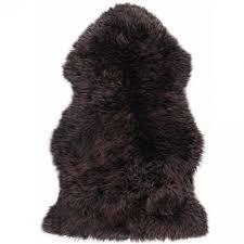 super soft large real genuine sheepskin rug in chocolate tip brown main