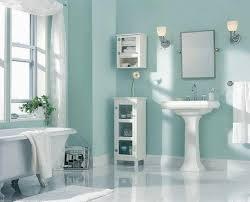 bathrooms color ideas. Delighful Bathrooms Painting Color Ideas Bathroom With White Drapery And Light Blue Walls  Also A Mirror Sink Under Two Wall Lights Small Shelf In Bathroou2026 In Bathrooms