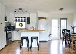white country cottage kitchen. A Budget Friendly, Black And White Country Cottage Farmhouse Kitchen T