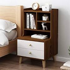 Bjzxz Nightstand <b>Wooden</b> Cabinet <b>Bedside Table Multiple</b> Storage ...