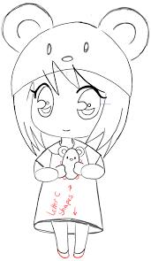 anime chibi drawing tutorial. Perfect Drawing Step11chibigirlanimemangamousehat To Anime Chibi Drawing Tutorial B