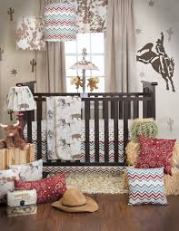image of interior cowboy crib bedding