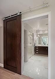 diyhd 6 6 foot ceiling mount bracket stainless steel sliding barn wood door track hardware