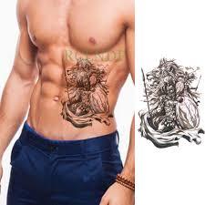 водонепроницаемая временная татуировка наклейка воин лев временная татуировка