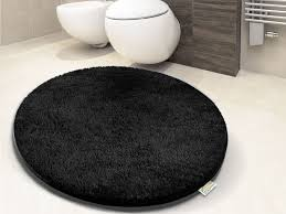 Thick Bathroom Rugs Thick Bathroom Carpet Deep Black 6 Sizes Available