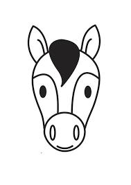 Kleurplaat Hoofd Paard Afb 17536 Images