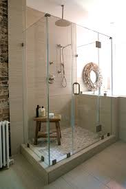 unique teak stool bathroom completing rustic seating design impressive walk in shower and nice teak