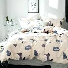 pine cone bedding sets fox cartoon set cotton fabric 3 twin queen king size duvet hill