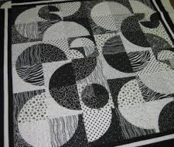 Drunkards Path Quilt Pattern Inspiration Honeysuckle Patchwork Black White Drunkards Path Quilt Kit