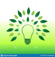 Green Energy Lighting Light Bulb Tree Concept And Green Energy Stock Vector