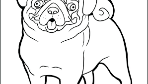 Pug Dog Coloring Pages Cute Pug Dog Coloring Page Free Printable