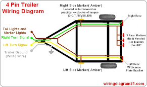 trailer light wiring diagram 4 pin 7 pin plug house electrical 4 pin trailer plug light wiring diagram color code