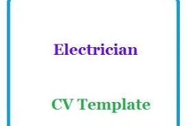 Electrician Cv Electrician Cv Template Cv Format And Cv Sample