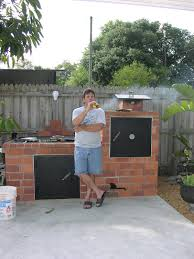 new fire pit smoker brick barbecue pit plans amazing house plans