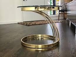 mid century modern milo baughman brass
