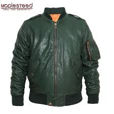 2019 maplesteed m86 flight jacket mens genuine leather jacket men leather coat er black wine red army green plus size 097 from merrylady