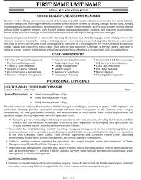 Property Manager Sample Resume Impressive Senior Account Manager Resume Sample Template