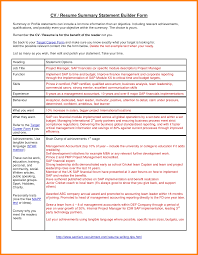 7 Resume Summary Statement Examples Appeal Leter
