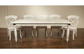 riverside regan 7pc rectangular dining set in farmhouse white
