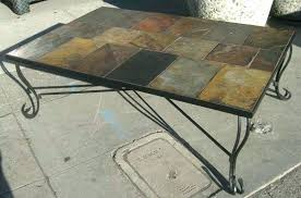 slate top coffee tables white table set and end regarding tile prepare 7