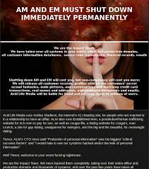 A message left by Impact Team for Avid Life Media  the owners of Ashley Madison Ars Technica