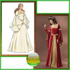 Medieval Dress Patterns Gorgeous Pattern Kingdom Ladies Medieval Renaissance Costume Patterns