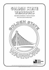 cool coloring pages nba teams logos golden state warriors 11 basketball