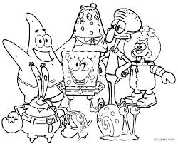 Small Picture Printable Spongebob Coloring Pages For Kids 17995